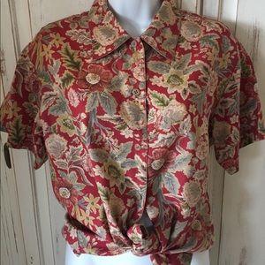 Vintage Floral Button Down